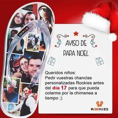 Papa Noel nos ha enviado esta carta. Escribe la carta pronto para que le de tiempo a colarse por la chimenea #chanclas #regalo #Navidad