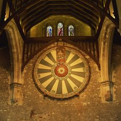 One of my favourite places to visit. King Arthur's Round Table Mounted on Wall of Castle Hall, Winchester.