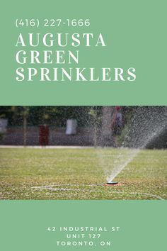 """Augusta Green Sprinklers use the latest tools, equipment, & methods to make sure clients in Toronto are satisfied. We also offer """"smart irrigation"""" with WiFi Smart Timers, a state-of-the-art technology that helps save money on both water & energy utilities. Sprinkler System Installation, Water Energy, Water Day, Water Conservation, Art And Technology, Free Quotes, Irrigation, Saving Money, Toronto"""