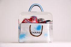 Fred Allard, 'Sac Chanel blanc Croco bleu mixte,' 2015, Galeries Bartoux