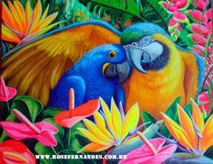Festival de cores - óleo e acrílica sobre tela - 60x90 - by Rose Fernandes