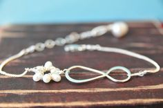 Figure Eight  Infinity Bracelet/Gift With by LillyputLaneDesignCo, $42.00