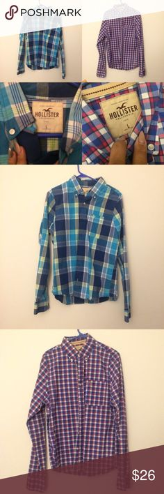 Hollister Button up shirt bundle Size large great for a lover with flannel Hollister Shirts Casual Button Down Shirts