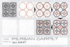 Persian Carpet - tangle pattern