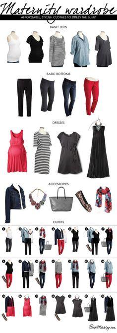 An affordable maternity wardrobe