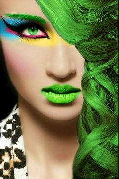 makeup fashion hair face style colors vamp1967 carolyn foster photo edit face hair eyes girl woman green