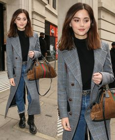 Best Dress of the Day Jenna Coleman in London - klatsch-You can find Jenna coleman and more on our website.Best Dress of the Day Jenna Coleman in . Jenna Coleman Haircut, Jenna Coleman Style, Mode Style, Style Me, Vanellope Von Schweetz, Gamine Style, Soft Gamine, Outfit Des Tages, Cooler Look
