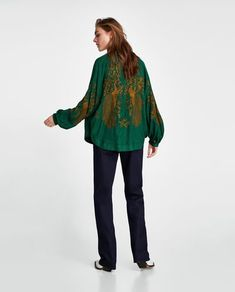 Image 4 of EMBROIDERED JACQUARD KIMONO from Zara