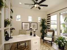 Black and White home office -Katrina Cole for all your mortgage needs (616) 920-1937