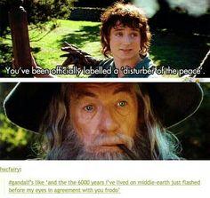 I love Gandalf's expression sooooooooooooooooo much