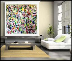 FREE SHIPPING Coloful Landscape Original Abstract by DesignOfArt, $299.00 Free Shipping, Landscape, The Originals, Abstract, Artwork, Summary, Work Of Art, Auguste Rodin Artwork, Landscaping