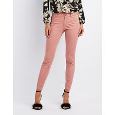 Refuge Skin Tight Legging Jeans ($30) ❤ liked on Polyvore featuring jeans, ash rose, cut skinny jeans, denim jeans, colored denim jeans, zipper jeans and zipper skinny jeans