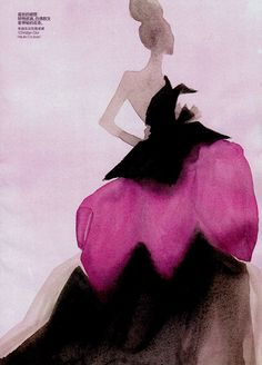 Beautiful fashion water colour abstractions by the artist Mats Gustafson - Posted on Design Faves