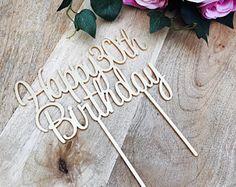 Happy 30th Birthday Cake Topper 30th Topper Cake Decoration Cake Decorating Personalised Cake Toppers Birthday Cake Topper SWTHRT Sugar Boo