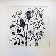 Limited edition of 25 lino prints inspired by the beautiful seed heads to be found on my winter walks. Jackson's Art, Stamp Carving, Linoprint, Ecole Art, Tampons, Linocut Prints, Woodblock Print, Botanical Illustration, Illustrations