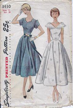 Vintage 1950s Simplicity Dress Afternoon by vintagepatternstore, $16.93