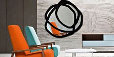 Sweet 97 is an irregularly shaped mirror with painted decorations in white or black.  Discover our mirrors selection for your rooms! http://www.malfattistore.it/en/2016/11/mirror-mirror-on-the-wall/ | #malfattistore #shoponline #onlinedesignstore #mirror #gervasoni #italiandesign #livingroom