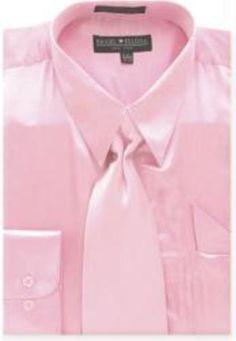 mens shiny silky satin dress shirts and ties