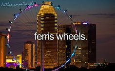 I used to ride ferris wheels, but now you would NOT get me near one!!