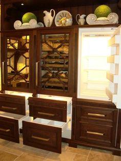 fridge opened - Manufacturer: Bentwood Luxury Kitchens