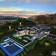 Luxury Homes Exterior, Luxury Homes Dream Houses, Dream House Exterior, Dream House Plans, House Outside Design, Dream Mansion, Modern Mansion, Mansions Homes, Villa Design