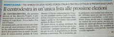 CAPITAN FUTURO: montagna-elezioni. CENTRO DESTRA UNITO A SAN MARCE...
