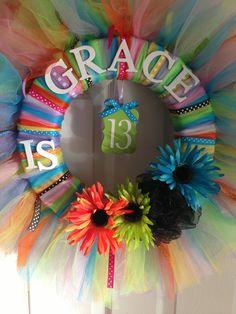 Birthday tulle wreath :)