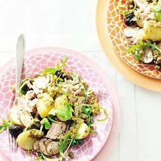 Mediterrane tonijnsalade Potato Salad, Potatoes, Ethnic Recipes, Food, Salads, Eten, Potato, Meals, Diet