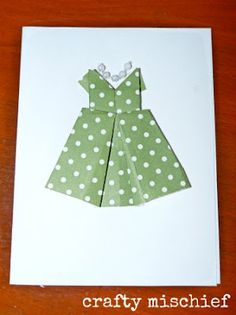 Origami dress card for Mother's Day