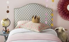 Safavieh's CONNIE GREY/WHITE HEADBOARD Item: MCR4018G Color: GREY & WHITE