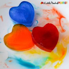 Valentine's Day Frozen Heart Color Mixing Activity