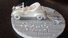 Wedding car. Christening cake topper . Wedding Car, Christening, Cake Toppers, Cakes, Desserts, Tailgate Desserts, Deserts, Cake Makers, Kuchen