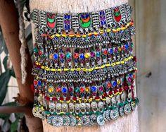 Afgano Kuchi collar, cadena Tribal, Kuchi joyería, Belly Dance, Bohemia collar, collar Festival Hippie, gitana Boho gargantilla de CraftEastShop en Etsy https://www.etsy.com/es/listing/232323467/afgano-kuchi-collar-cadena-tribal-kuchi