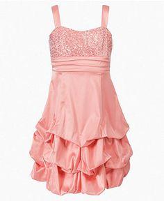 Ruby Rox Girls Dress, Girls Sequin Pick-Up Dress - Kids Kids Easter Dressing - Macy's