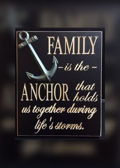 Custom engraved Family is the anchor that holds us by ChristysCoop