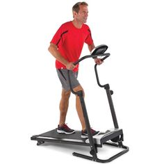 A motorless treadmill where resistance is created by magnetic force, eliminating the need for AC power