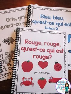Wow - great series of emergent readers in French to teach students the colours! French Teaching Resources, Teaching French, Teaching Ideas, Kindergarten Writing, Kindergarten Activities, Reading Activities, Kindergarten Classroom, Teaching Reading, Literacy