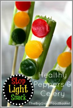 Healthy Traffic Light Snack for Kids