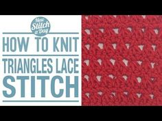 How to Crochet the Triangles Lace Stitch - YouTube