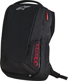 City Hunter, Motorcycle Backpacks, Motorcycle Outfit, Black Backpack, Backpack Online, Backpack Brands, Black White Red, Accessories