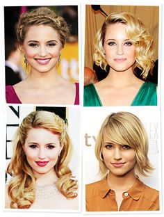 Nearly of you tried on Dianna Agron's sunny blond bob this week, making her versatile crop this week's top pick! Try On Hairstyles, Popular Hairstyles, Pretty Hairstyles, Elegant Hairstyles, Dianna Agron Hair, Long Hair Cuts, Great Hair, Her Hair, Hair Inspiration
