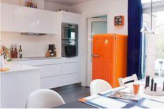 Atrévete con el naranja en la cocina