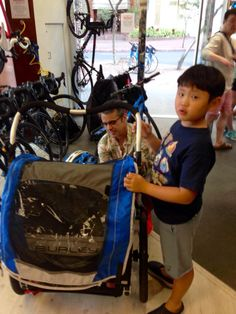 We rent Trek trail-a-bikes, kid's bike seats and Burley Trailers, and all rentals include kid-size helmets. Let us recommend family-friendly bike routes and destinations, and the appropriate bike to go with them, for your Hawaii outdoor bike adventure.