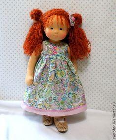 Маленькая Принцесса, 38 см - рыжий,вальдорфская кукла,вальдорфская игрушка: