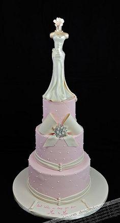 Wedding dress cake by Design Cakes, via Flickr