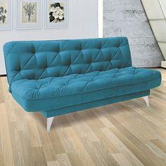Compre Sofá Cama Naty 947 Linoforte Azul Turquesa em até 10x sem juros e entrega para todo Brasil. Aproveite!