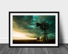 Old Windmills, Wall Art Prints, Framed Prints, Sunflower Photography, Storm Photography, Hanging Pictures, Print Pictures, Landscape Photos, Wood Frames