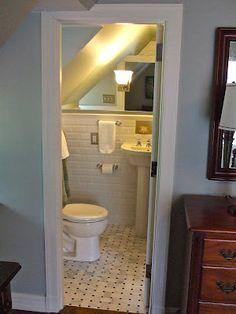 Debra Paessler Designs.......beauty heals.    Vintage inspired bathroom remodel.