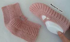 İNCİ TANELİ SELANİK ÇEYİZLİK GELİN PATİK | Nazarca.com Crochet Girls Dress Pattern, Crochet Shoes, Knit Or Crochet, Baby Knitting Patterns, Thessaloniki, Crochet Designs, Knitting Designs, Knitting Socks, Free Knitting