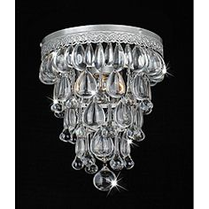Cone Shape Matte Silver Flushmount Ceiling Chandelier | Overstock.com Shopping - Big Discounts on Flush Mounts